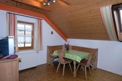 Die Wohnküche  in der Ferienwohnung Hühnernest