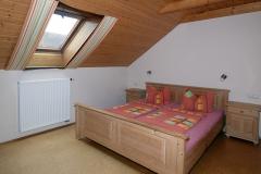 Das Elternschlafzimmer  in der Ferienwohnung Hühnernest