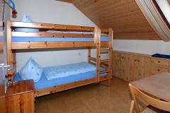 Das Kinderschlafzimmer  in der Ferienwohnung Hühnernest