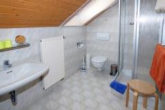 Das Bad in der Ferienwohnung Hühnernest